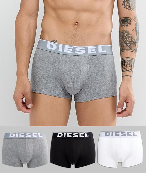 Набор из 3 хлопковых боксеров-брифов Diesel - Мульти