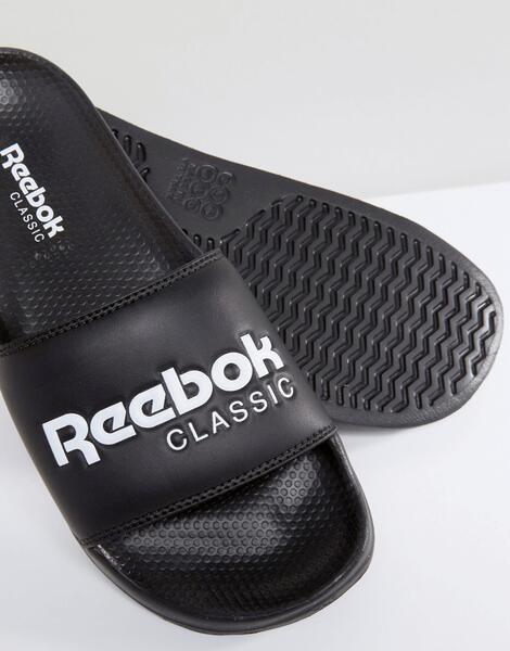 Черные шлепанцы Reebok Classic BS7414 - Черный