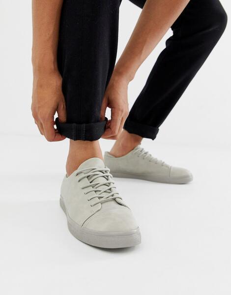 Серые кроссовки из искусственной кожи ASOS DESIGN - Серый