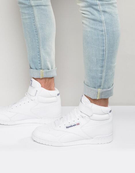 Белые высокие кроссовки Reebok Ex-o-fit 3477 - Белый