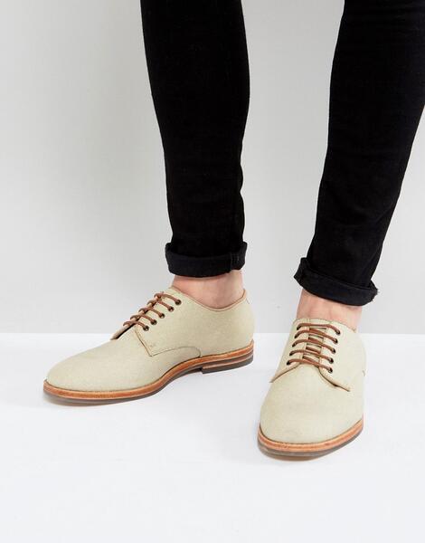 Парусиновые туфли на шнуровке H By Hudson Hadstone - Бежевый