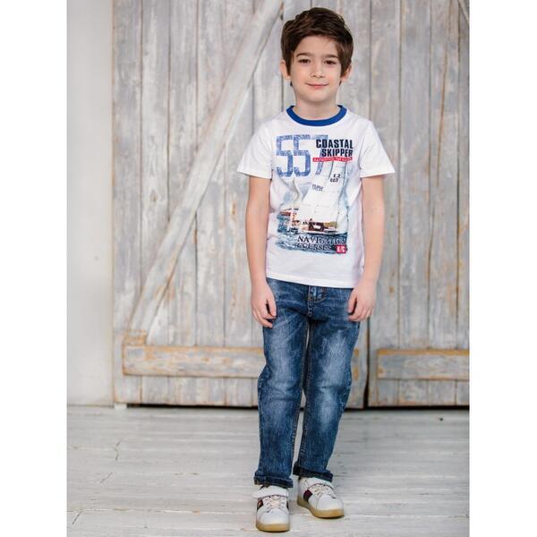 Брюки джинсовые для мальчика Парусный спорт 913037