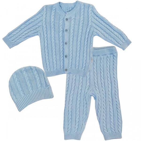Комплект вязанный (кофточка, штанишки и шапочка) 73-9006
